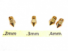 4 qty .2mm .3mm .4mm 3D Printer Nozzle MK7 MK8 makerbot RepRap 1.75mm ABS PLA