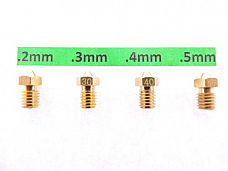 Jhead .2mm .3mm .4mm .5mm 3D J-Head Extruder Nozzle V6&V5 1.75mm PLA ABS