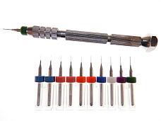 10pc Jhead .2mm .25 .3mm .35 .4mm .45 .5mm 3D Printer Nozzle Clog Kit + PinVise