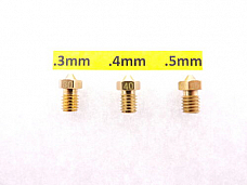 Jhead .3mm .4mm .5mm 3D J-Head Extruder Nozzle V6&V5 1.75mm PLA ABS