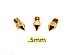 3 Qty .5mm 3D Printer Nozzle for MK7 MK8 makerbot RepRap 1.75mm ABS PLA
