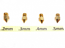 .2mm .3mm .4mm .5mm 3D Printer Nozzle for MK7 MK8 makerbot RepRap 1.75mm ABS PLA