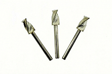 3qty 6.5mm End Mill Router Bit FR4 CNC Spiral 2 Flute 1/8 Shank