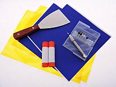 3D Printer Accessory Kit .3 .4 .5mm Blue Painters Tape Kapton Tape Removal Tool